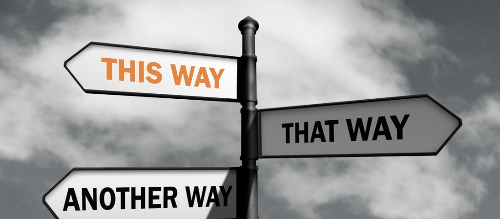 Wegwijzer This way That way